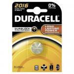 Knopfzelle DURACELL Lithium DL2016 CR2016 1er Blister