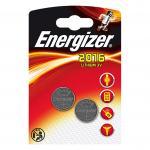 Knopfzelle ENERGIZER Lithium CR2016 DL2016 2er Blister