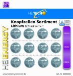 HEITECH Lithium Knopfzellen-Sortiment je 4 x CR DL 2016 2025 2032