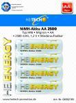 Akku HEITECH Hei Energy HR6 2500 mAh AA Mignon 4er Blister