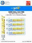 Akku HEITECH Hei Energy HR03 700 mAh AAA Micro 4er Blister