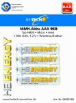 Akku HEITECH Hei Energy HR03 950 mAh AAA Micro 4er Blister