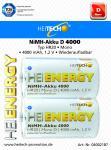 Akku HEITECH Hei Energy HR20 4000 mAh D Mono 2er Blister