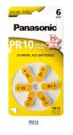 PANASONIC Hörgeräte-Batterie Zinc-Air PR10 PR70 6er Blister