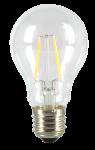 5 x V-TAC LED Filament Leuchtmittel VT-1885/SKU-4259 E27 Globe A60 4 Watt warmweiß 3000K