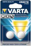 Knopfzelle VARTA Lithium 6016 CR2016 DL2016 2er Blister