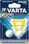 Knopfzelle VARTA Lithium 6025 CR2025 DL2025 2er Blister