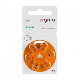 SIEMENS Signia Hörgeräte-Batterie Zinc-Air P13 PR48 6er Blister