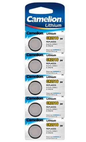 Knopfzelle CAMELION Lithium CR2016 DL2016 5er Blister