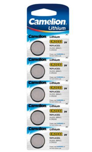 Knopfzelle CAMELION Lithium CR2032 DL2032 5er Blister